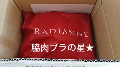 ラディアンヌin楽天ロゴの段ボール